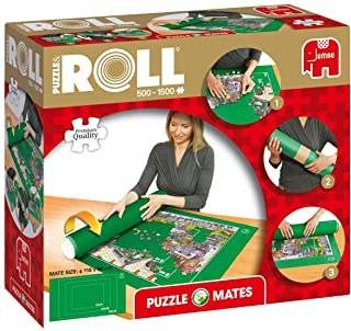 Jumbo 17690 Puzzle & Roll up to 1500 pieces Mates Jigsaw Puzzle Accessories, Multi