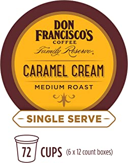 Don Francisco's Caramel Flavored (72 Count) Recyclable Single-Serve Coffee Pods, Compatible with Keurig K-Cup Brewers