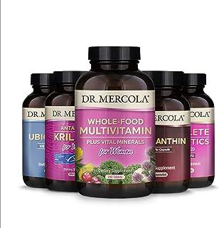 Dr. Mercola Core 5 for Women (30 Servings), Complete Probiotics for Women, Astaxanthin, Ubiquinol, Whole-Food Multivitamin...