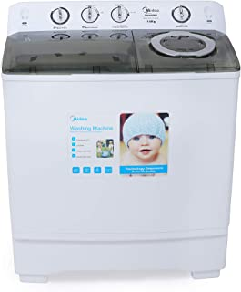 Midea MTE160P1402S 14 KG Twin Tub Semi Automatic Washing Machine 5 Star Rating White Color, 1 Year Warranty
