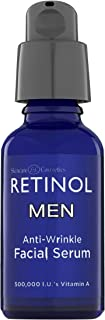 Retinol Men's Anti-Wrinkle Facial Serum – The Original Retinol Anti-Aging Men's Formula For Younger Looking Skin – Vitamin-Enriched To Smooth Fine Lines & Wrinkles, Improve Tone & Promote Firmness
