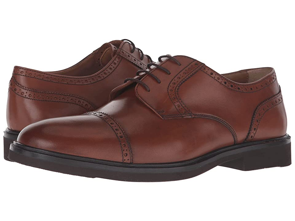 Florsheim Hamilton Cap Toe Oxford (Cognac Smooth) Men