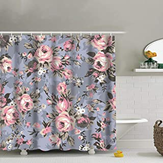 best bags Shabby Chic Granny Vintage Chintz Floral Waterproof Shower Curtain Liners Bathroom Decoration with Rust Proof Hooks 66X72 Inch
