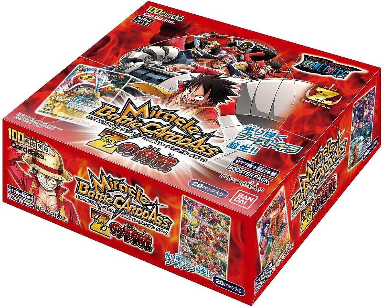 Más asequible Miracle Battle Cocheddass - One Piece [Z no Kyoui] Kyoui] Kyoui] Booster Pack [OP13] (20packs) (japan import)  respuestas rápidas