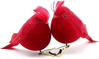Yolococa Árbol de Navidad decoración cardenales pájaros Rojo