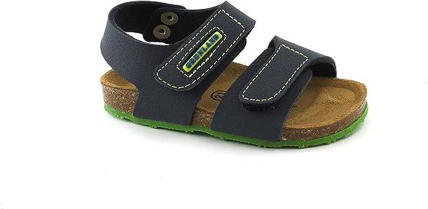 GRUNLAND AFRE SB0248 18//25 bianco fantasia sandalo bambina strappi birk