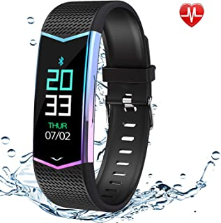 Fitness Tracker, Activity Tracker Watch with Heart Rate Monitor Blood Pressure, Waterproof Smart Fitness Band with Step Counter, Calorie Counter, Pedometer Watch Bracelet for Kids, Women and Men