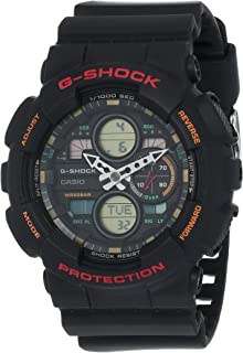 Casio G-Shock GA-140-1A4DR Analog Quartz Black Resin Men's Watch