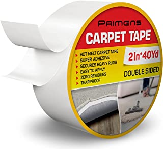 Double Sided Carpet Tape - Rug Grippers Tape for Area Rugs and Hardwood Floors - Carpet Binding Tape Removable, Residue Fr...