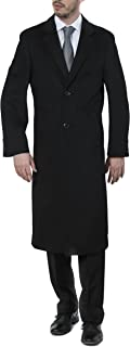 Men's Single Breasted Wool Cashmere Full Length Topcoat - Colors