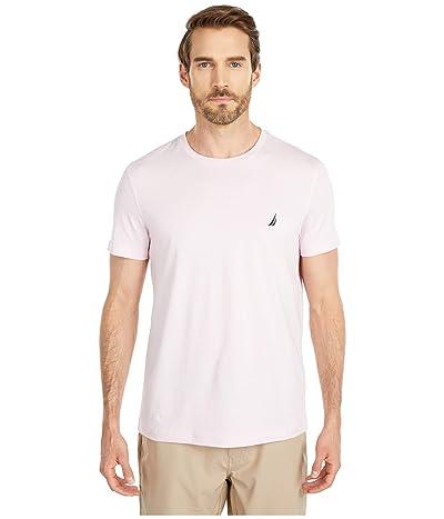 Nautica Short Sleeve Solid Crew Neck T-Shirt (Cradle Pink) Men