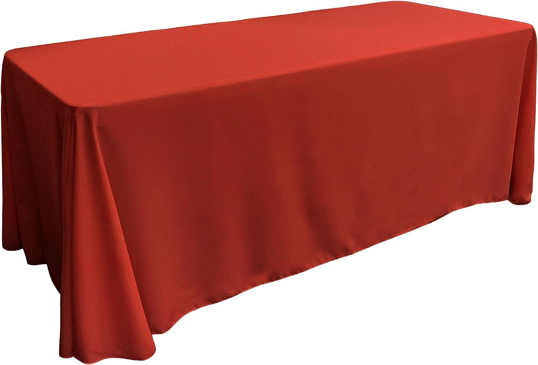La-Leinen Tischdecke Poplin aus Polyester, rechteckig, rechteckig, rechteckig, Polyester, rot, 228.6 x 396 x 0.04 cm B00OMZCN3Q 1dc44a