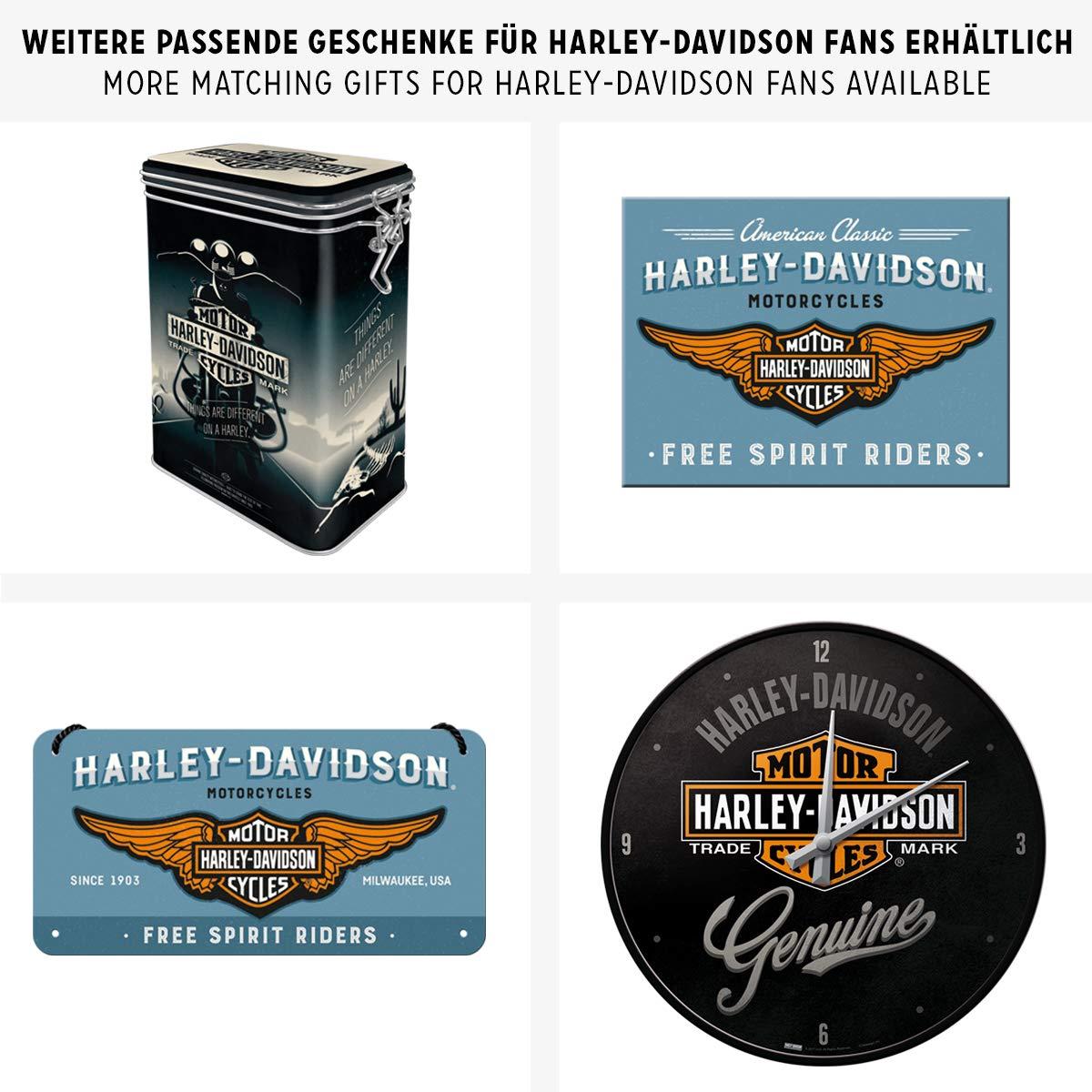 Nostalgic Art Harley Davidson Things Are Different - Placa decorativa, metal, 20 x 30 cm, color gris: Amazon.es: Hogar