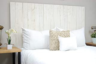 Whitewash Headboard Twin Size Weathered, Hanger Style, Handcrafted. Mounts on Wall. Easy Installation