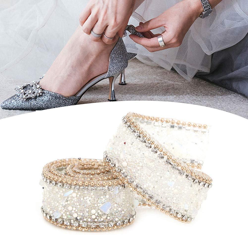 Nastro da 2,5 cm con strass di cristallo sartoria accessori Cha/îne de perles dor/é pierre bleu royal cristallo cucito per bricolage decorazione per vestiti artigianato