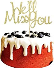 We'll Miss You Cake Topper for farewell, Job Change, Retirement, Graduation Party Decorations Gold Glitter