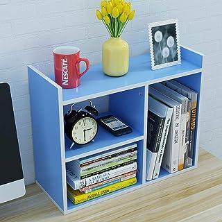 TLMYDD Bibliothèque de Bureau Petit Meuble de Rangement Simple Bureau Multicouche Bureau Petite bibliothèque 50x16.8x40cm ...