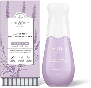 Dot & Key Mattifying Moisturizer Face Serum, with Lavender Oil, mattifying moisturizer + face serum for oily skin - Paraben Free
