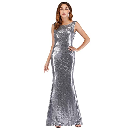 d00033a9a51 Ever Pretty Back Cowl Neck Shine Sequin Sparkle Elegant Gold Evening Party  Gown 07110