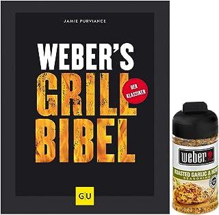 Weber Grillbibel - Libro de barbacoa para barbacoa perfecta + 1 libro de ajos Weber hierbas, 164 g