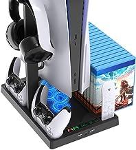 FASTSNAIL Ventilateur de Refroidissement PS5, Station Multifonction pour Console Playstation 5 Digital Edition/Ultra HD, a...