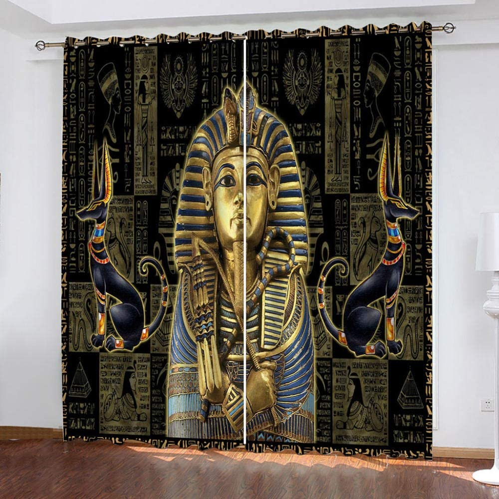 TFNIMB Blackout Large discharge sale Curtains Panels for Ancient Max 45% OFF Pha Bedroom Egyptian