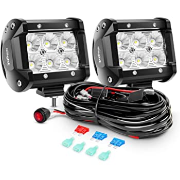 Amazon.com: Nilight 2PCS 18W Spot LED Work Lights Led Pods Fog Lights Off  Road Led Lights Driving Lights with Off Road Wiring Harness, 2 Years  Warranty: AutomotiveAmazon.com