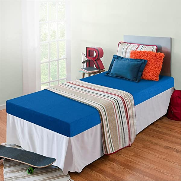 Zinus 记忆泡沫 5 英寸双层床 Trundle 床日间床双人床垫蓝色