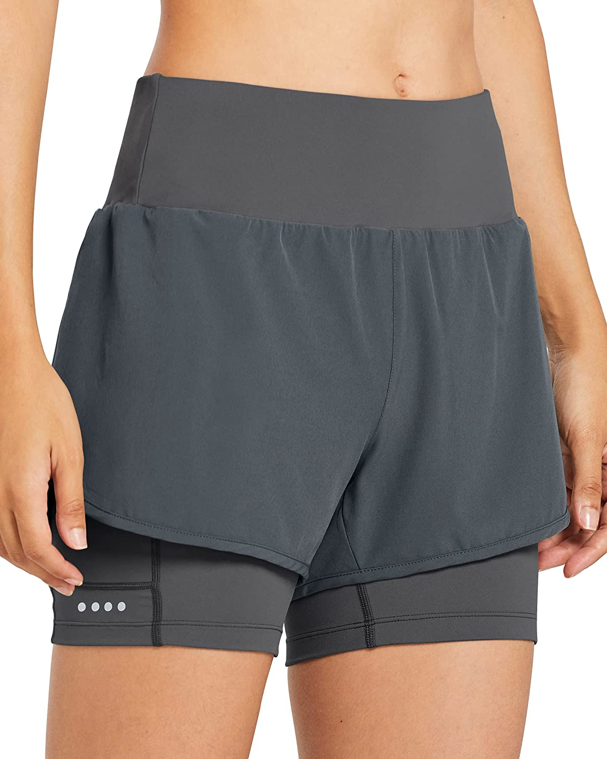 Libin Women's 2 Direct store in 1 Running with Lightwei Max 45% OFF Shorts Athletic Liner