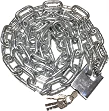 WXYZ Keyed Padlocks Heavy-duty stalen kettingslot, gebruikt voor fietsmagazijn poortbeveiliging Anti-diefstal slot, 0,5 m,...