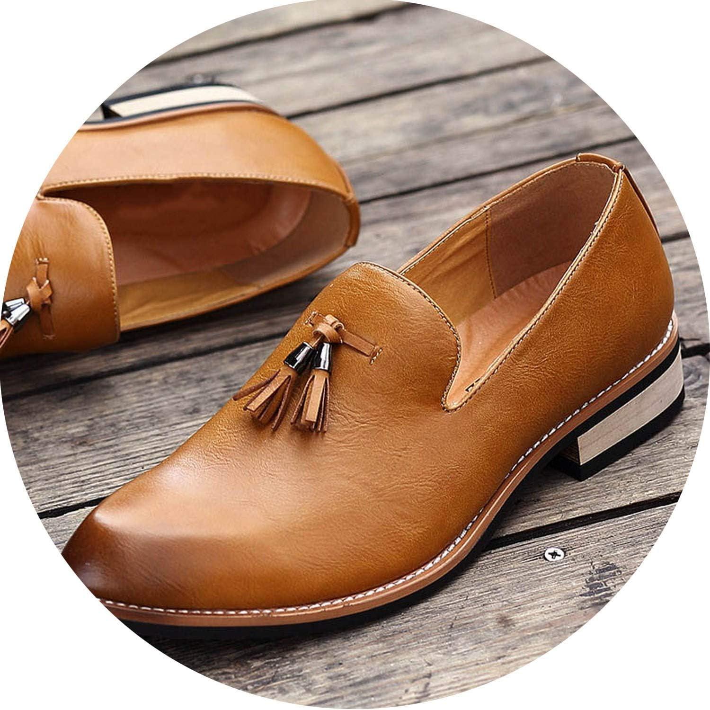 Galna herr skor Casual Casual Casual Loafers med Tassels Fringaae Solid luxury Slip On svart Drive skor män Pointed Toe  stor rabatt
