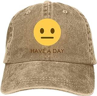 LeoCap Have A Day Baseball Cap Unisex Washed Cotton Denim Hat Adjustable Caps Cowboy Hats