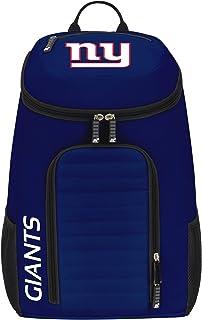 "Officially Licensed NFL New York Giants ""Topliner"" Backpack, Black, 19"" x 7"" x 11"""