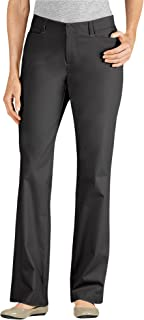 Dickies Women's Curvy Straight Leg Stretch Twill Pant