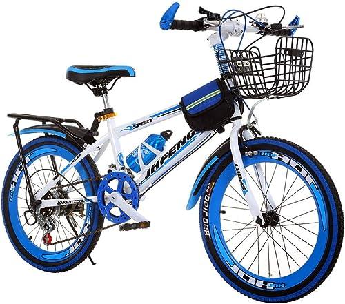 calidad garantizada Xiaotian Bicicleta Infantil Bicicleta de Montaña Montaña Montaña para Niños al Aire Libre Bicicleta para Niños Adecuada para Bicicletas Infantiles (Color  azul, tamaño  18 Pulgadas)  popular