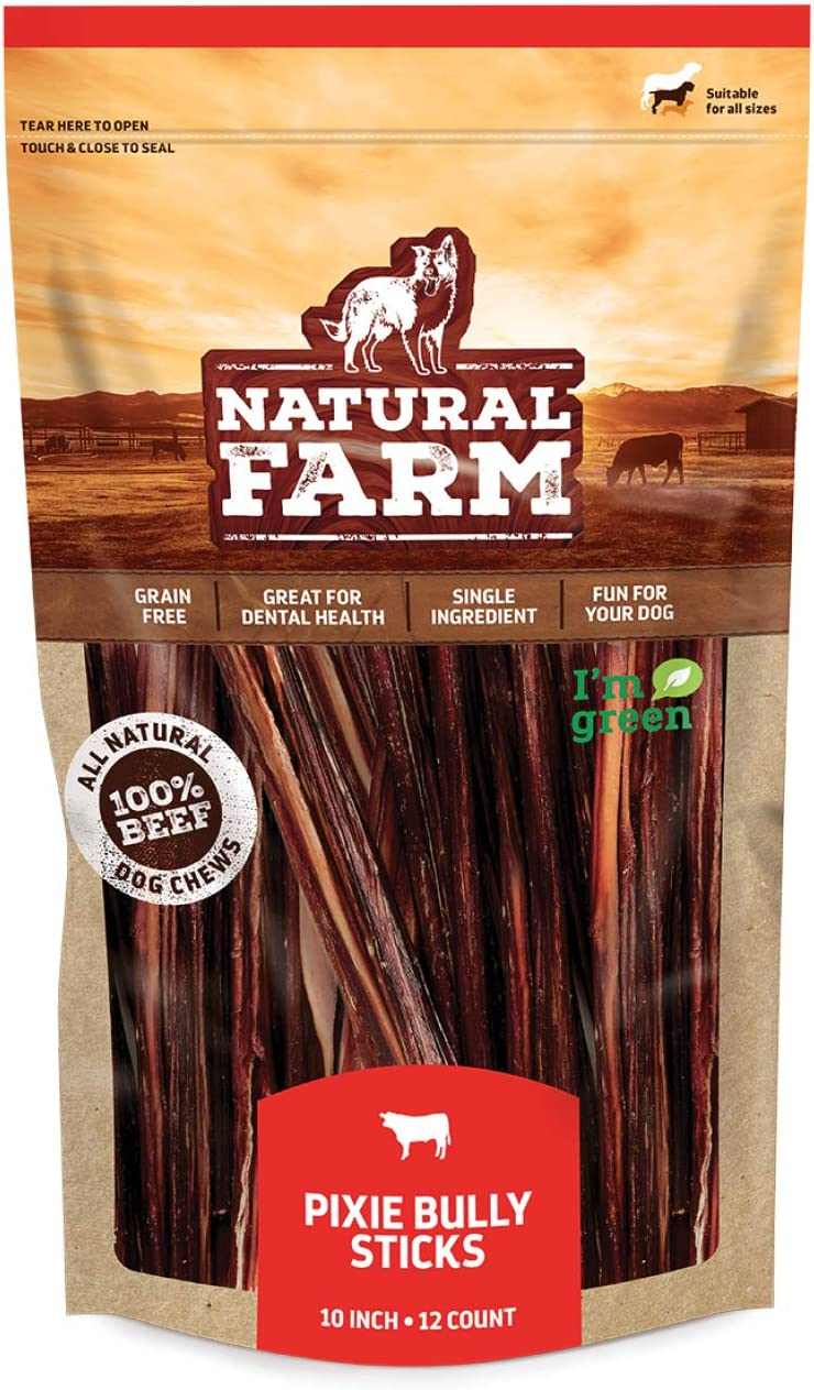 """Made by Natural Farm Pup free Pizzle Pixi 10"""" Max 51% OFF 12-Units Sticks"""