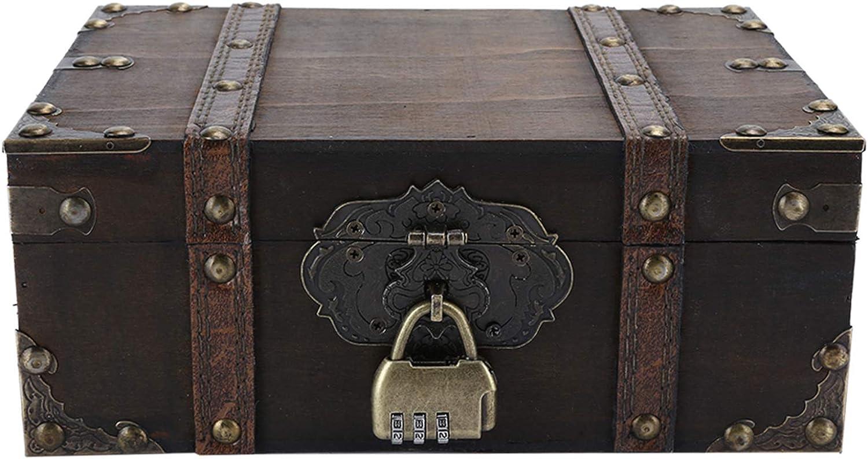 Wooden Storage Box Large Vintage Direct stock latest discount Decorative Jewel Capacity