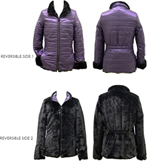 Gallery Girls' Big Casual Mid Length Reversible Quilted Parka