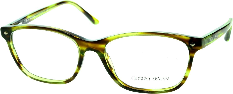 GIORGIO ARMANI Eyeglasses AR 7021 5167 Brushed Striped Green 52MM