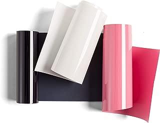 "Cricut Everyday Iron On Mini Midnight Floral Sampler, 3.7"" x 24"" HTV Rolls - Navy, Pink, White"