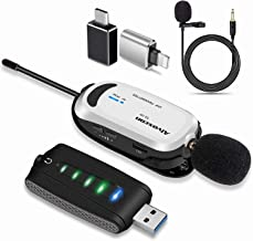 Wireless lavalier Microphone for iPhone & Computer -Alvoxcon USB Lapel Mic System for Android, PC, Laptop, Speaker, Podcas...