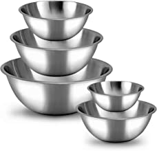 Meal Prep Stainless Steel Mixing Bowls Set, Home, Refrigerator, and Kitchen Food Storage..