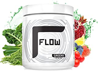 Flow Greens Superfood Powder Supplement Lemongrass - 30 Servings - Non-GMO, PhytoNutrients, Vitamins and Minerals, Fiber - 183 Gram (Pack of 1)