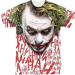 The Dark Knight Heath Ledger All Over Joker Head T Shirts & Stickers