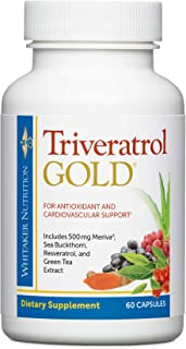 Dr. Whitaker's Triveratrol Gold – Healthy Aging Supplement with Resveratrol & Extracts of Aloe Vera, Green Tea, and Turmer...