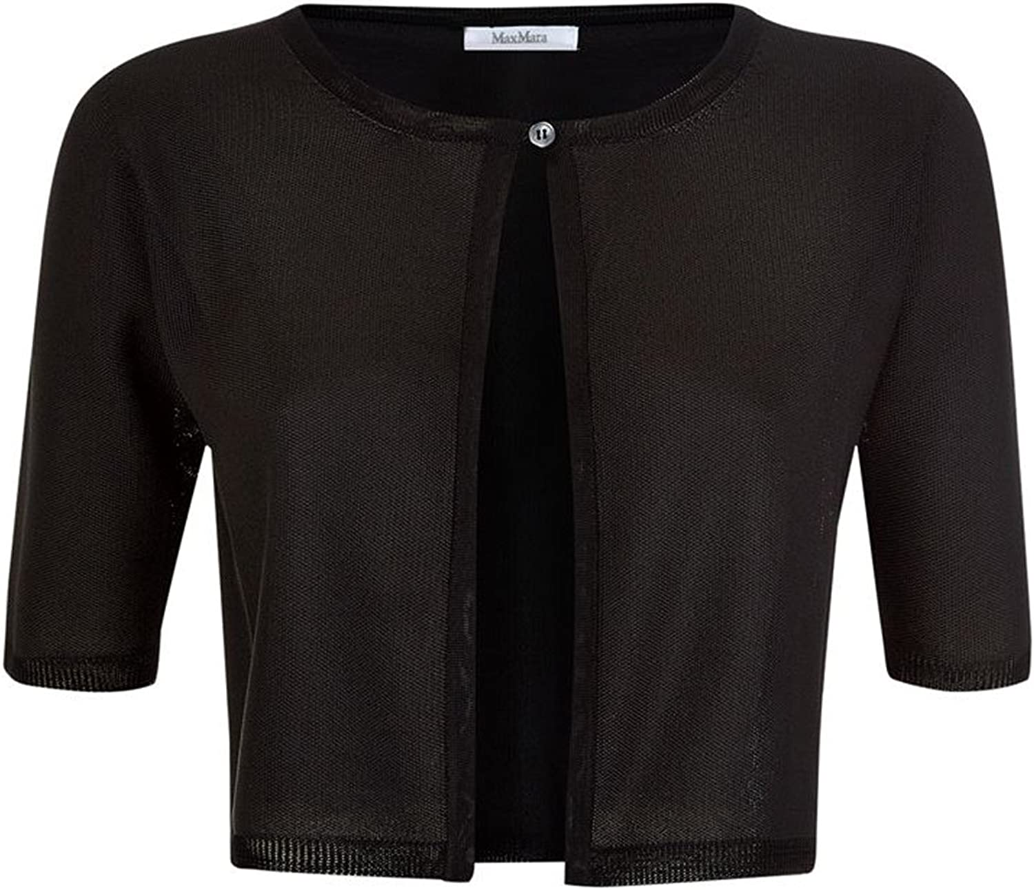 Max Mara Women's Palermo Black Cropped Cardigan