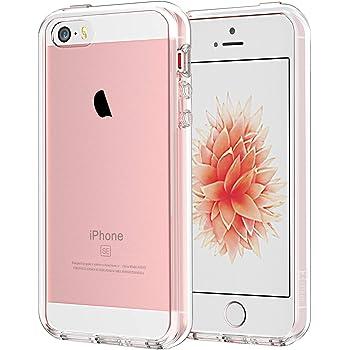 JETech Hülle kompatibel mit iPhone SE 2016, iPhone 5, iPhone 5s, Transparente Anti-Kratzer Rückseite, HD Klar