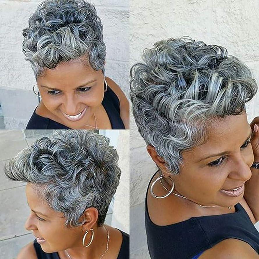 Grey Human Front Wigs Glueless Short Bob Hair Wigs Wavy Baby Women 11inch Wavy Lace (a)