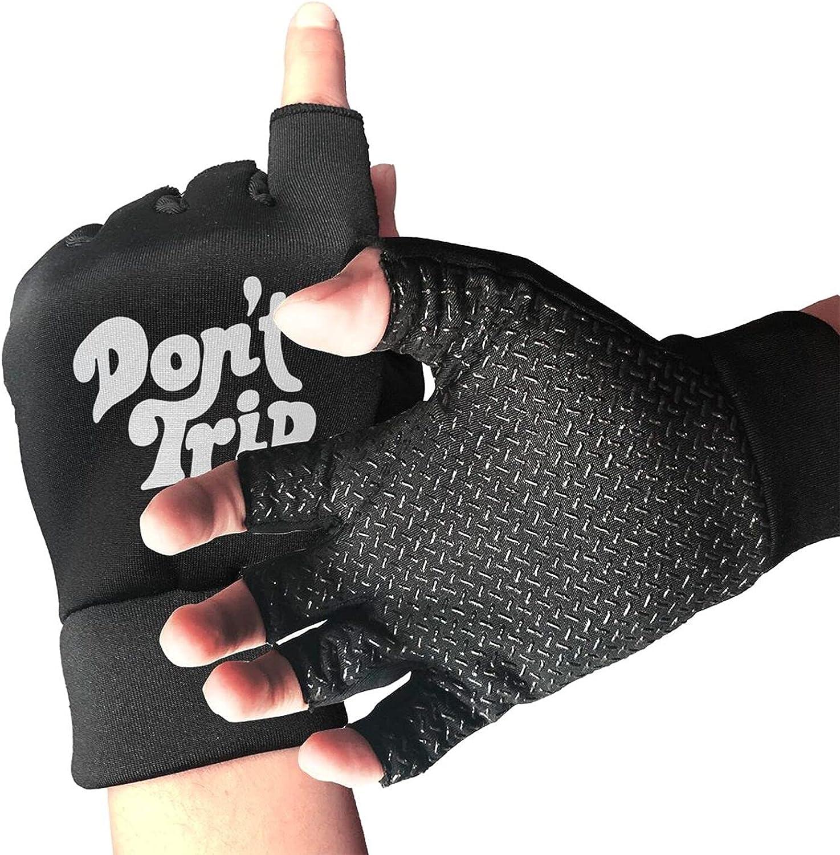 Don'T Trip Non-Slip Driving Gloves Breathable Sunblock Fingerless Gloves For Women Men
