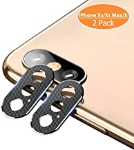iPhone Xs Max X Camera Lens Protector – [2 Pack] TINICR Premium Aluminum Alloy Back Rear Camera Lens Screen Cover Case Shield Compatible for iPhone Xs/Xs Max/X (2018), Black